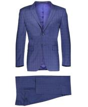 GD1800 Mens Slim Fit 2 Button Navy Suit Window