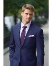 mens navy suit purple tie