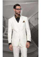 JSM-1307 Mens Statement 2 Button Off White Modern Fit