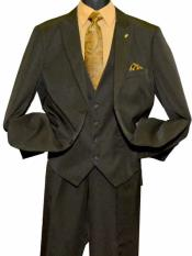 SD161 Mens Single Breasted Peak Lapel Black 2 Button