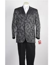 JSM-462 Mens 2 Button Olive Single Breasted Suit