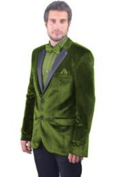 Product#JSM-4492Mens2ButtonOliveGreenSatinNotchLapel