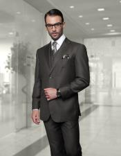 JSM-6857 Mens Big Size Vested Suits 2 Button Wool