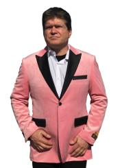 SM5203 Mens Big And Tall Blazers Pink Cheap Velvet