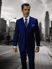 BACENO-2 SAPPHIRE Statement Plaid Suit