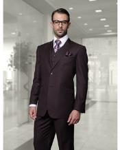 JSM-1328 Mens Statement 2 Button Plum (Eggplant) Modern Fit