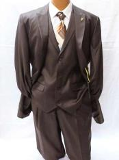 JSM-1847 Mens 2 Button Falcone Pett Brown Classic Fit