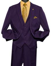 GD813 Falcone Men's Fashion Purple 2 Button Single Breasted