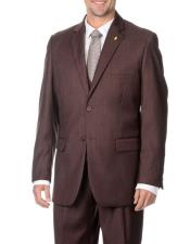 JSM-3782 Mens Falcone 2 Button Stylish 3-Piece Raisin Vested