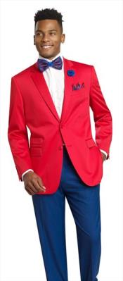 Product#JSM-3181Mens2ButtonRed2PieceBlazer