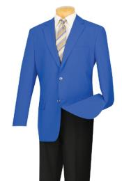 AC-664 Two Button Royal Blue Suit For Men Perfect