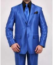 Two Button Royal Blue Suit