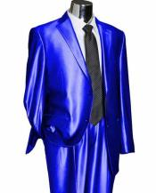 SD133 Mens 2 Button Single Breasted Royal Blue Suit