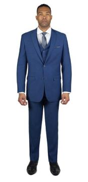 Mens 2 Button Royal