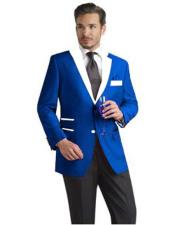 AP657 Mens 2 Button Single Breasted Royal Blue Suit