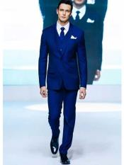 Mens2ButtonWeddingTuxedoSlimFitNotchLapel