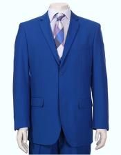 JSM-6143 Mens Vitali Single Breasted Authentic 2 Button Royal
