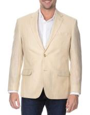 JSM-340 Mens Sand 2 Button Single Breasted Blazer Rich