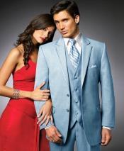 SK44 2 Btn Suit/Stage Party Tuxedo Satin Trim outlines
