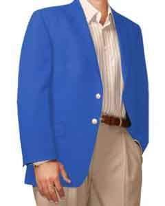 HL7422 Two Button Blazer Online Sale French-Blue ( +