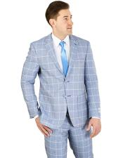 GD1669 Mens Lorenzo Bruno Blue Modern Fit 2 Button