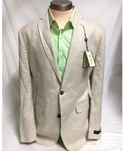 Mens Two Button Linen Single