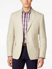 JSM-313 Mens Tan 2 Button Classic Fit Notch Lapel