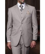 JSM-1260 Mens Statement Tan 2 Button 3 Piece Italian