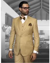 JSM-1314 Mens Statement 2 Button Chestnut Tan Modern Fit