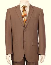 JSM-6140 Mens Vitali Single Breasted Authentic 2 Button Tan