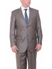 JSM-549 Mens 2 Button Taupe Brown Big & Tall