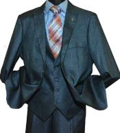 SD138 TealStacy Adams Brand Sharkskin Peak Mens Lapel Single