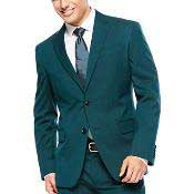 mens Teal Suit 2 Button