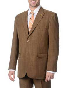 BC-09 Two Button Peak Lapel Vested Three Piece Pleated