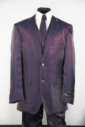 JA118 Mens Sharkskin Entertainment Stitch Single Breasted Zoot Suit