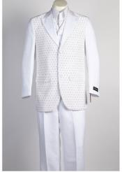 JSM-364 Mens 2 Button 2 Piece White Suit