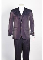 JSM-332 Mens 2 Button Wine Single Breasted Suit
