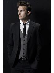 Product#MO5742ButtonWoolBlacksuitwithGreyvest