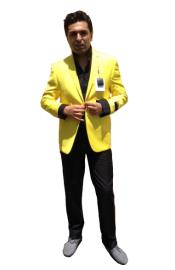 K3XX Two Button Blazer Online Sale Yellow