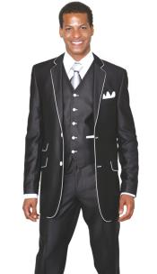 TP6893 2 Button Style 3 Piece Single Breasted Church