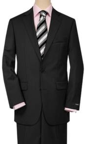 Product#JSM-1005Mens2ButtonsQualityPortlySuitsSolidBlack