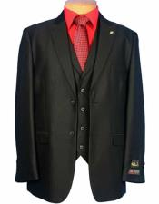 SM1320 Falcone Brand 2 Button Style Vested Peak Lapel