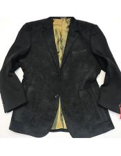 AP663 Mens Black 2 Buttons Single Breasted Notch Lapel