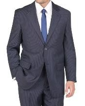 Blue Pinstripe Suit