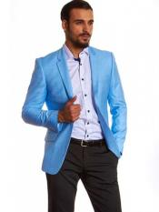 SM1245 2 Button Style Single Breasted Dylan Blue Notch