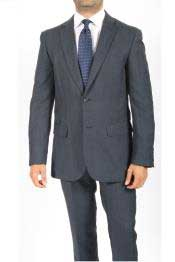 RG6377 2 Button Style Slim narrow Style Fit Blue