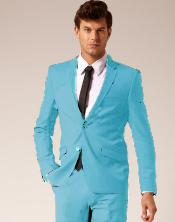 SKB943 2 Button Style Wool Fabric & Cotton Suit