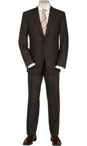 Product#JSM-1009Mens2ButtonsSolidBrownQualityPortlySuits
