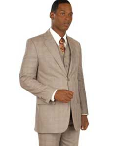 Button Style Vested Taupe
