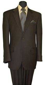 PX8822 brown color shade Stripe ~ Pinstripe 2 Button
